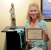 Lori Kiplinger Pandy wins 3rd place for sculpture at WAOW show