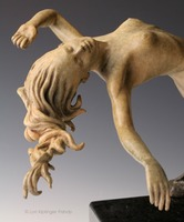 """Ascension"" © Lori Kiplinger Pandy. Bronze sculpture of woman rising. Spiritual art of ascending and floating woman."