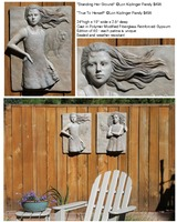 Bas Reliefs Standing Ground and True to Herself ©Lori Kiplinger Pandy