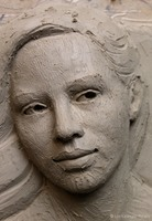 "Bas Relief Tutorial Photo ""Setting Her Sights"" ©Lori Kiplinger Pandy"