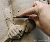 Setting her Sights bas relief ©Lori Kiplinger Pandy