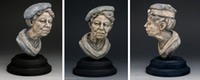 "portrait sculpture bust ""Eleanor"" ©Lori Kiplinger Pandy"