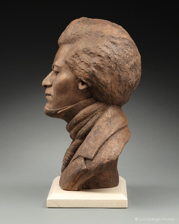 """The Orator"" Original Portrait Sculpture of Frederick Douglass ©Lori Kiplinger Pandy"
