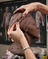 Clay portrait sculpture work in progress Harriet Tubman © Lori Kiplinger Pandy