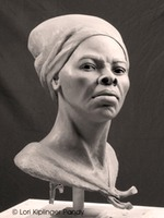 Clay portrait sculpture Harriet Tubman © Lori Kiplinger Pandy