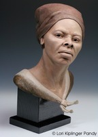Harriet Tubman portait sculpture in clay © Lori Kiplinger Pandy