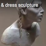 Adding hair and dress to small Sacagawea sculpture